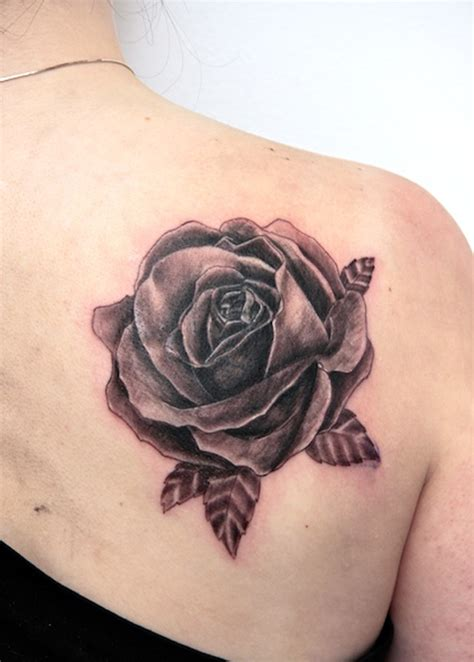 shaded rose tattoos designs inspiration mens craze