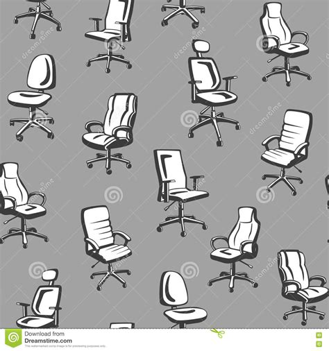 Types Of Armchairs by Office Chairs Seamless Pattern Stock Vector Image 73006768