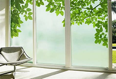 bathroom privacy window film beyong life green leaves nature privacy window film glass