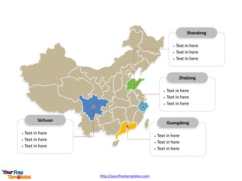 china political map china map free powerpoint templates