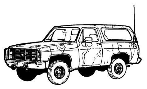 4x4 Sketches by 4x4 Truck Drawings Images