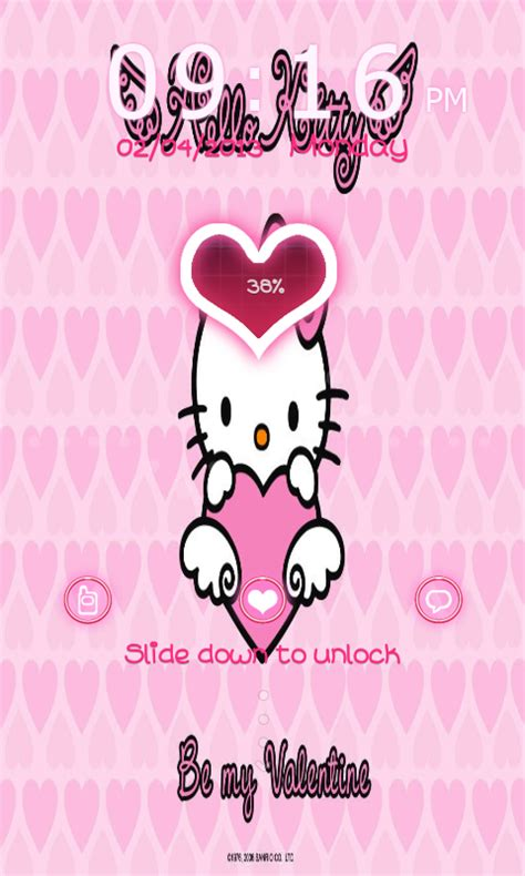hello kitty locker themes cute droid themes hello kitty valentine s go locker