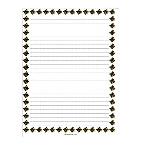 lined paper with music border word template lined paper clipart best
