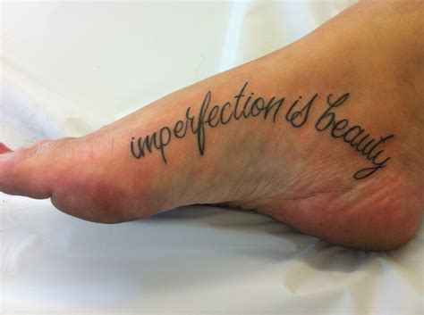 imperfection is beauty tattoo marilyn imperfection is foot