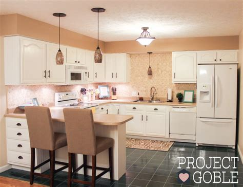 Transforming Kitchen Cabinets by Kitchen Transformation White Cabinets Amp Painted Counters