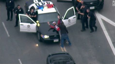 truck goes airborne in police chase cnn video
