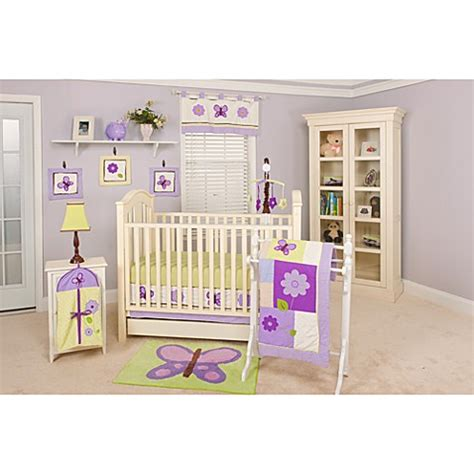 Lavender Crib Bedding Sets Lavender Butterfly 10 Crib Bedding Set By Pam Grace Creations Bed Bath Beyond