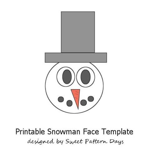 printable snowman face template snowman printable template new calendar template site