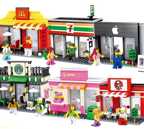 Promo Mainan Anak Mini Market Playset aliexpress buy 6sets lot mini city toys modular sets kfcs mcdonald s restaurant starbucks