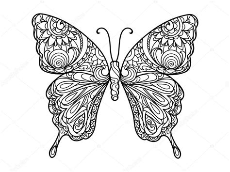 Galerry colouring pages for adults butterfly
