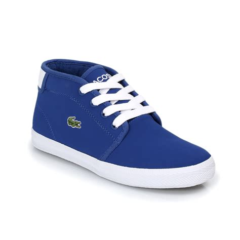 blue and sneakers lacoste thill blue white trainers sneakers shoes