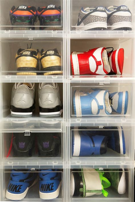sneaker storage solutions pin by laurie johnson on shoes storage area