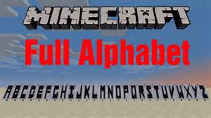 minecraft banners how to make the alphabet