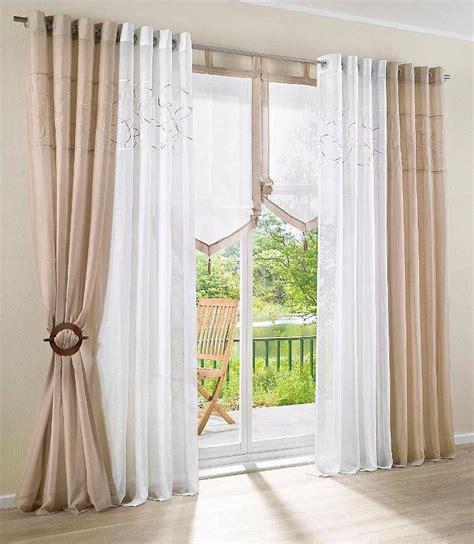 store vorhang 2 st gardine voile 140 x 145 creme beige bestickt vorhang