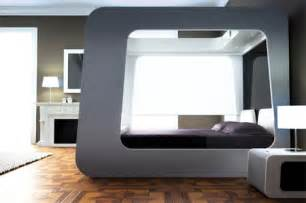 bett kino futuristic bed with built in tv screen