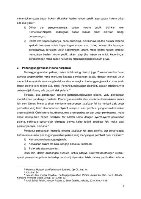 Bunga Hukum Pidana Penerbit Alumni Bandung 1 analisa kasus kejahatan bisnis yang dilakukan oleh korporasi dalam pe