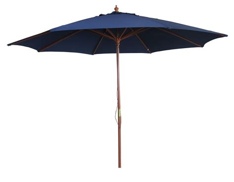 Blue Patio Umbrella Garden Parasol 3m Blue 8 Rib Patio Canopy Umbrella Ebay
