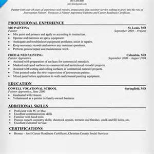 Spray Painter Tester Sle Resume by Resume For Painter