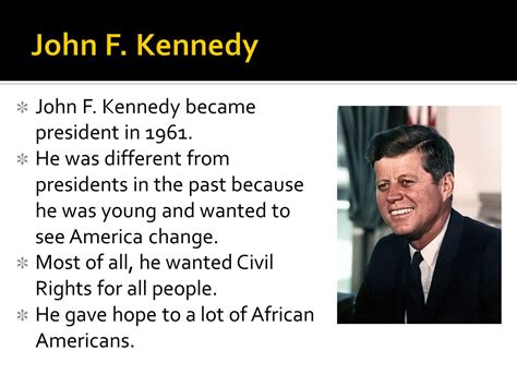biography john f kennedy ppt civil rights heroes ss5h8c ppt video online download