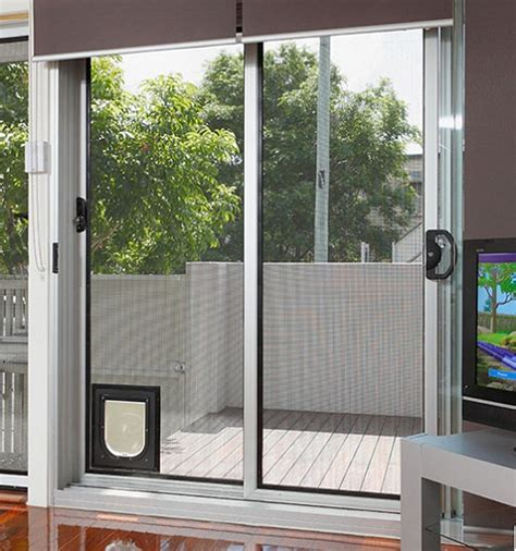 installing pet doors for sliding doors flaps