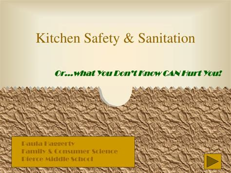 Kitchen Safety Sanitation by Ppt Kitchen Safety Sanitation Powerpoint Presentation