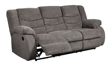 gray reclining sofa ashley tulen gray reclining sofa dallas tx living room