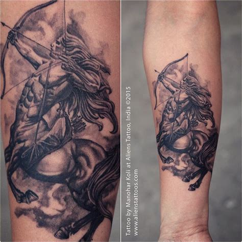 sagittarius tattoo ideas sagittarius by manohar koli at aliens