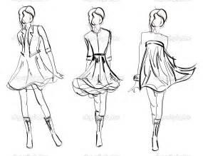 model drawing hand drawn fashion model stock