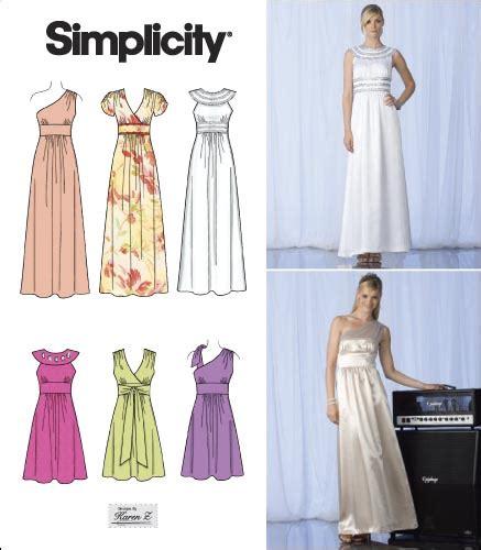 Bridesmaid Dress Patterns Uk - bridesmaids prom evening dress gown sewing pattern ebay