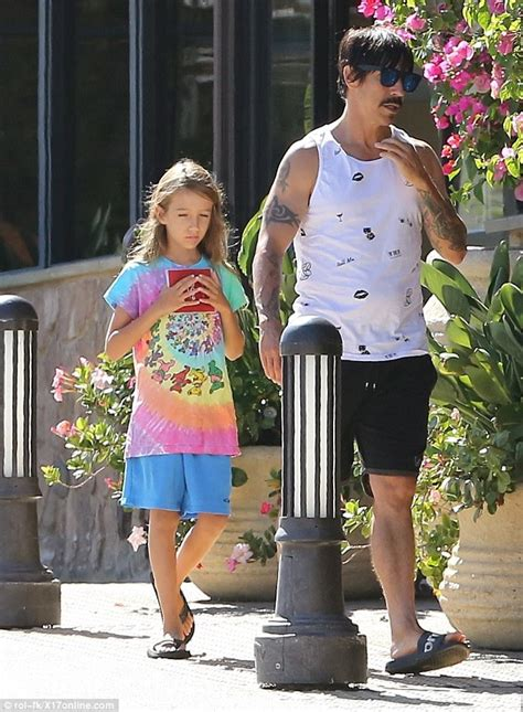 Red Hot Chili Peppers' Anthony Kiedis enjoys quality time