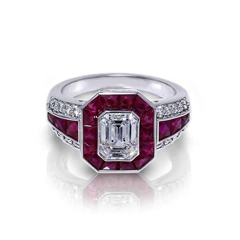 emerald cut ruby ring jewelry designs
