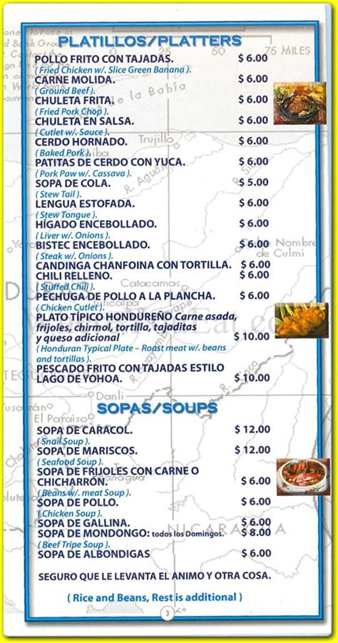 Patio Menu Honduras Patio Restaurant In St George Staten
