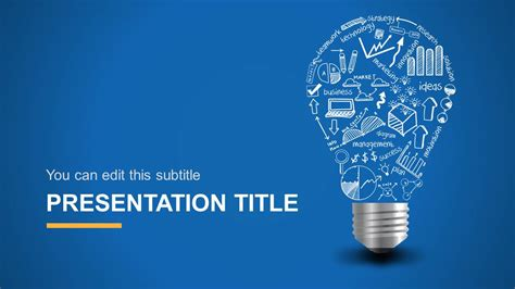 design templates powerpoint light bulb idea powerpoint template slidemodel