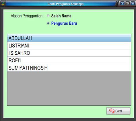 format buku besar pkh sim pkh kab probolinggo v 3 3 7 uppkh kecamatan krucil