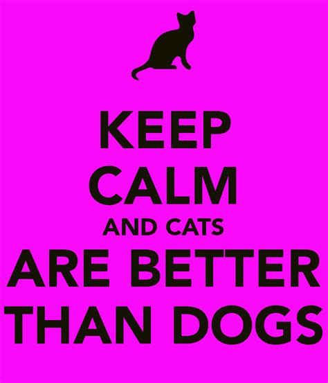 cats are better than dogs keep calm and cats are better than dogs poster h keep calm o matic