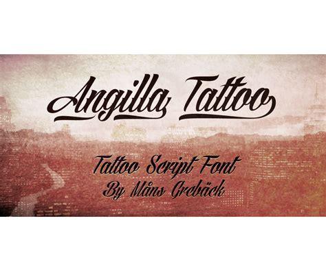 tattoo font modern calligraphy font agilla tattoo slated cursive italic