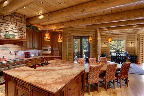 log house interior log home interiors high peaks log homes