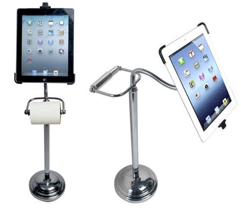 bathroom tissue tablet stands ipad toilet paper