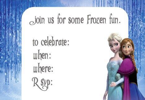 printable free frozen invitations free frozen invitation printable party ideas pinterest
