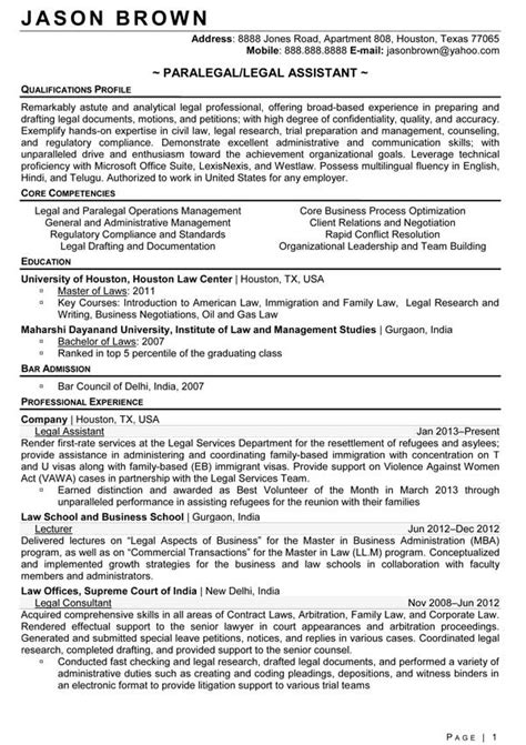 Personal Injury Attorney Cover Letter Personal Injury Paralegal Resume Sle Qualifications Profile