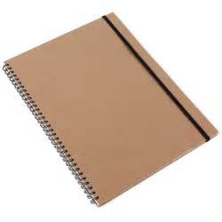 kraft a4 notebook with ruled pages notebooks stationery