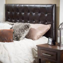 bedroom furniture king to cal king brown tufted leather