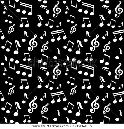 vector pattern with music notes vector seamless pattern with music notes 121904635