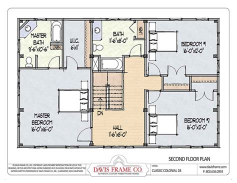 Classic Colonial House Plans | barn house plans classic colonial layout 1b davis frame