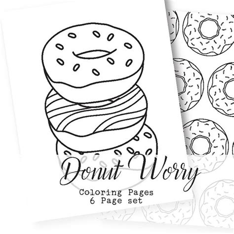 coloring pages for donuts donut worry adult coloring pages donut coloring pages