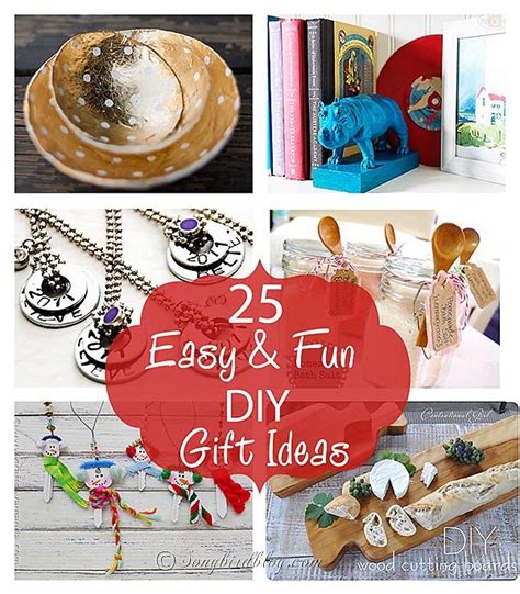 Interesting Handmade Gift Ideas - 25 and easy diy gift ideas and