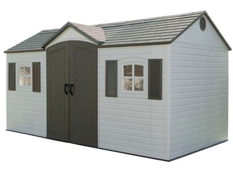 Exterior Storage Sheds Lifetime 6446 Outdoor Storage Shed Large Outdoor Sheds