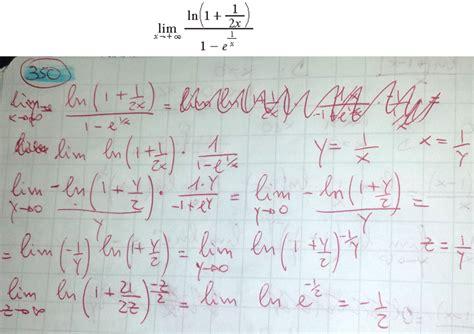 limite tende a infinito limite di x tende a infinito di ln 1 1 2x 1 e 1 x