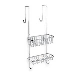 Bed Bath And Beyond Shower Caddy interdesign gia over the shower door shower caddy in chrome finish