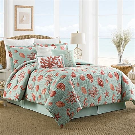 coral bedding set buy coastal life luxe coral reversible full comforter set